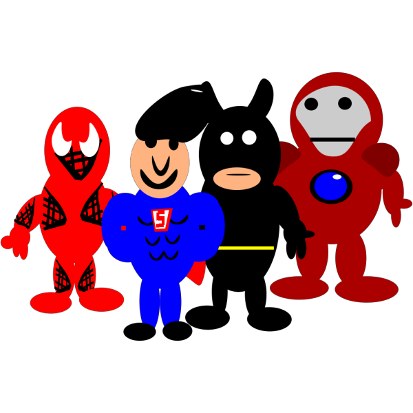 Super Hero Cartoons PNG Clip art