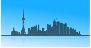 Shangai City Skyline PNG Clip art