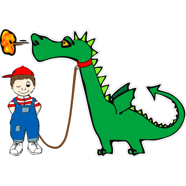 Dragon On A Leash PNG Clip art
