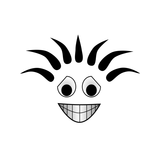 Smiling Cartoon Face PNG Clip art