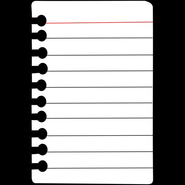 Notebook Paper PNG Clip art