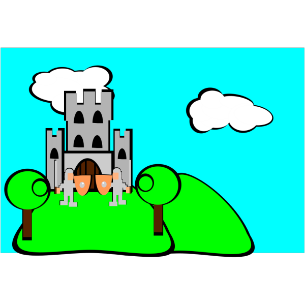 Castle Cartoon PNG Clip art