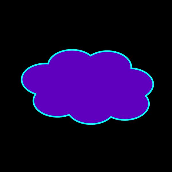 Purple Cloud PNG Clip art