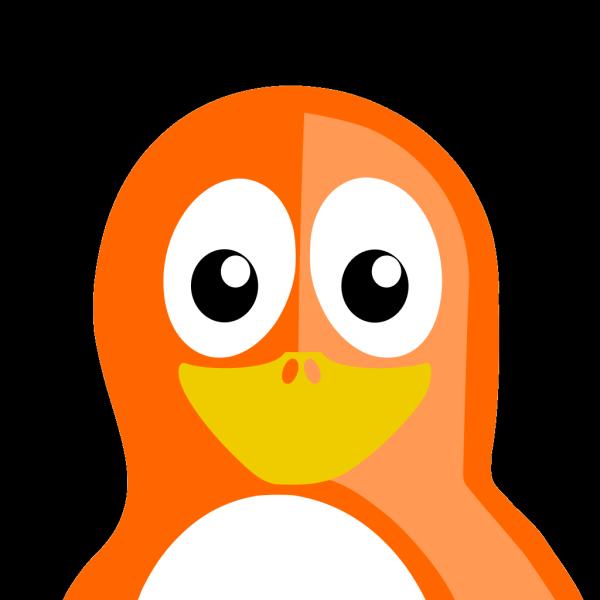Orange Penguin PNG Clip art