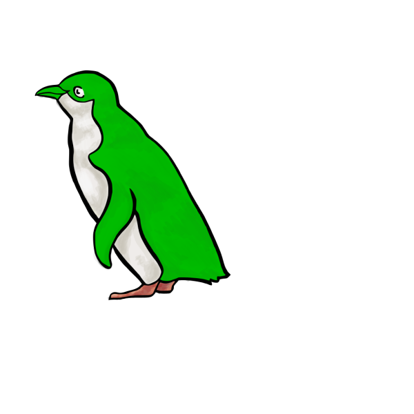 Green Penguin PNG icon