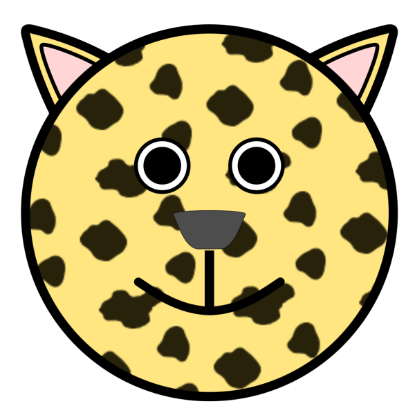 Leopard With Rounded Face PNG images