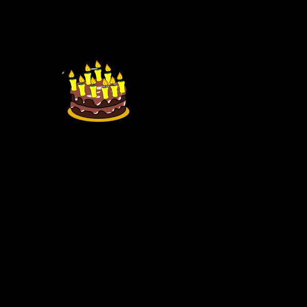 9th Birthday Cake  PNG Clip art