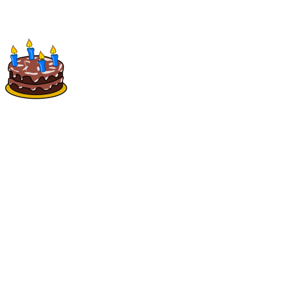 Birthday Cake Four Candles PNG Clip art