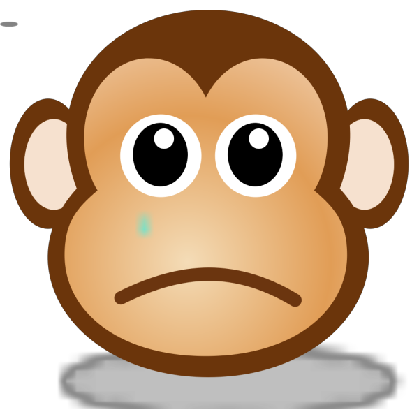 Sad Monkey Face 2 PNG Clip art