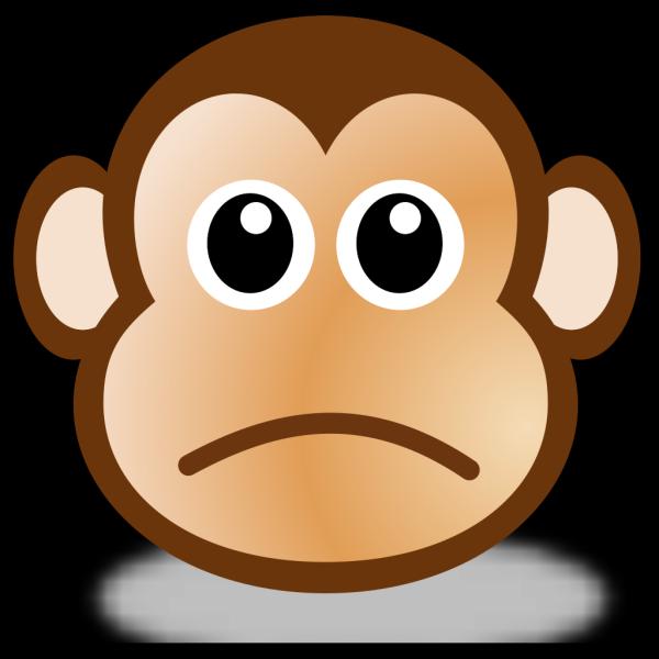 Sad Monkey Face 3 PNG Clip art