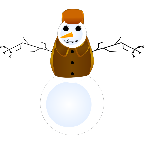 Snowman With Clothes PNG Clip art
