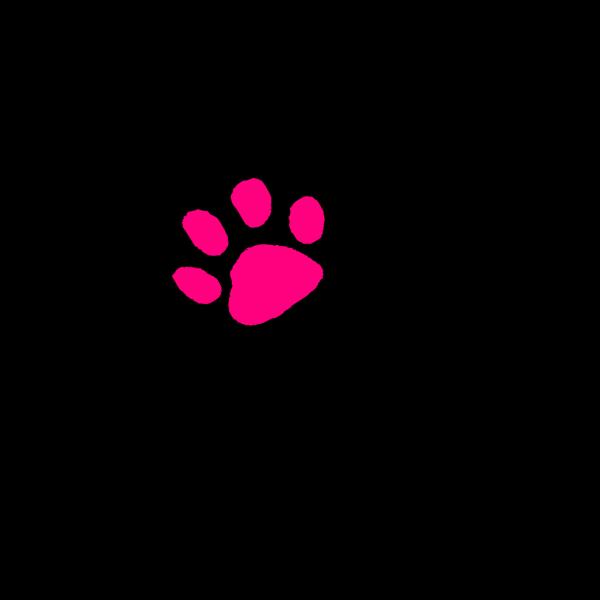 Pink Paw Print PNG Clip art