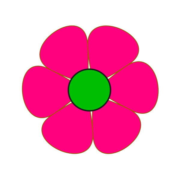 Pink And Green Flower PNG Clip art