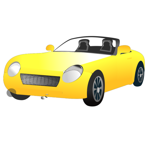 Yellow Convertible Sports Car PNG Clip art