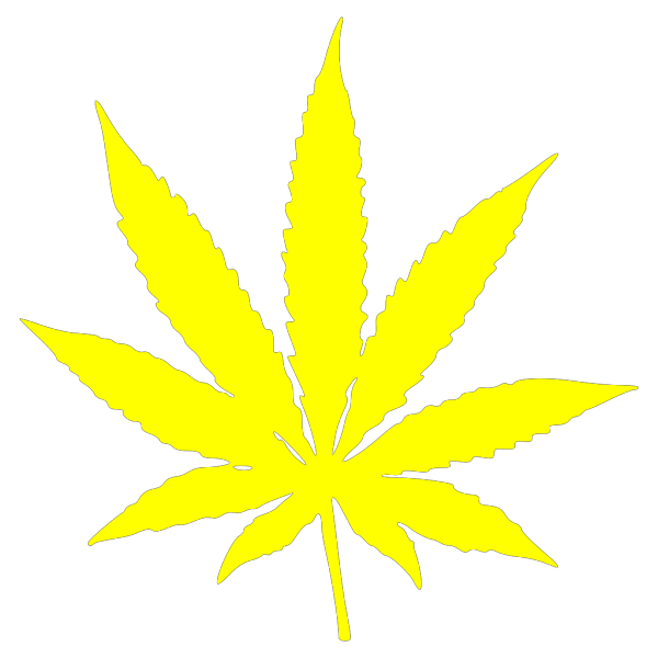 Cannabis Leaf Stars And Stripes Yellow PNG Clip art