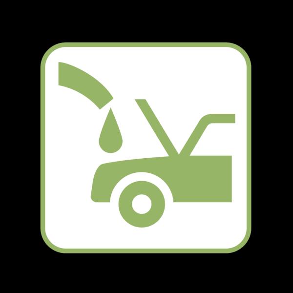 Green Car Top View PNG Clip art
