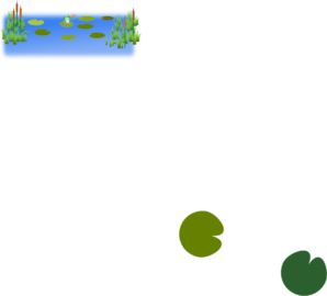 Frog In Pond PNG images