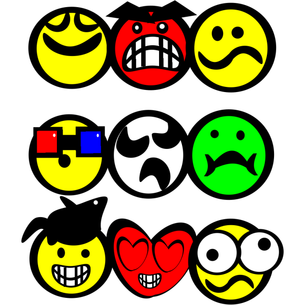 Cartoon Smiley Faces PNG Clip art