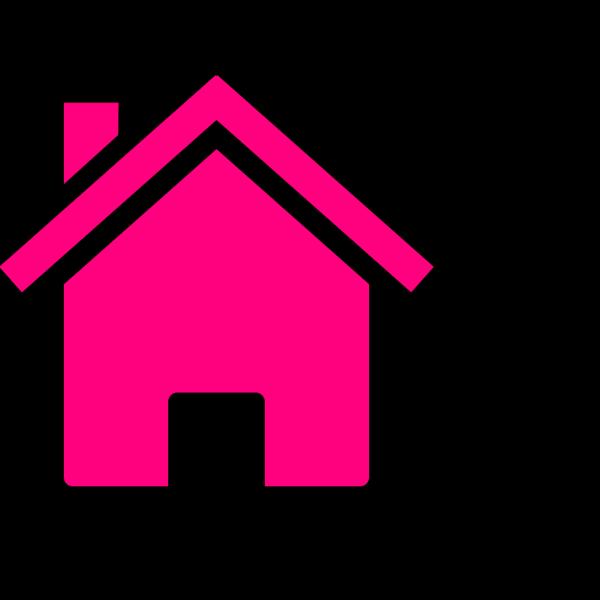 Pink House Outline PNG Clip art