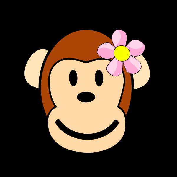 Girl Monkey PNG Clip art