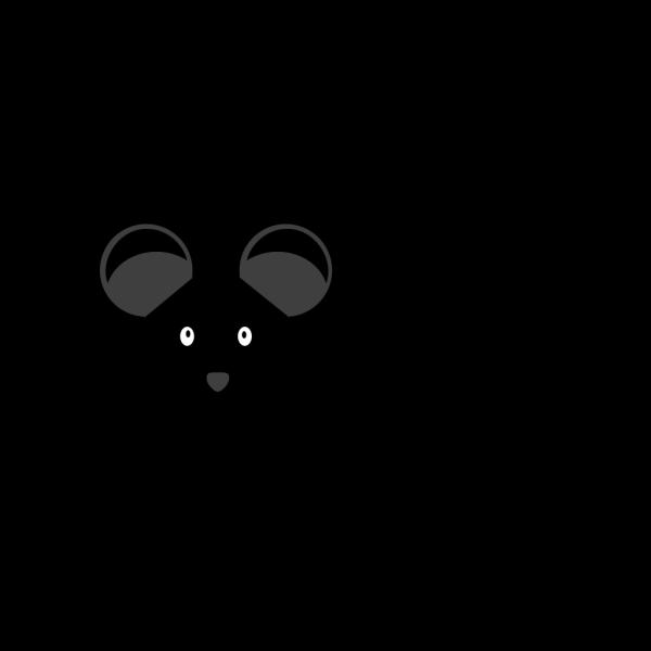 Black Mouse C57bl/6 PNG Clip art