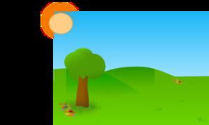 Trees Sky Grass 2 PNG Clip art
