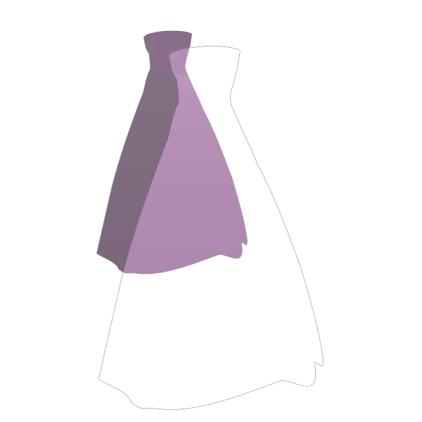 Purple Dress PNG Clip art