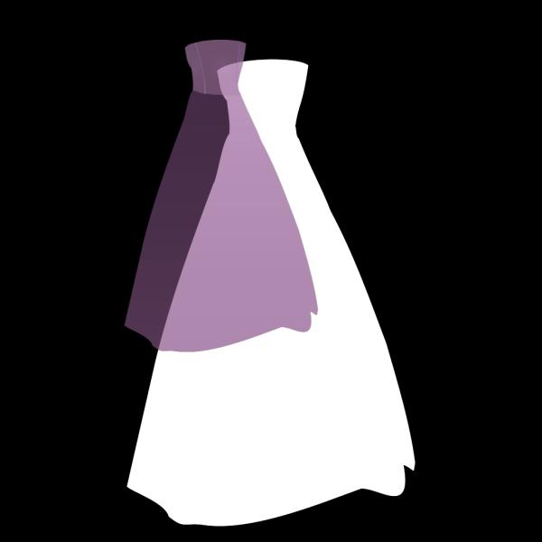 Purple Dress PNG Clip art