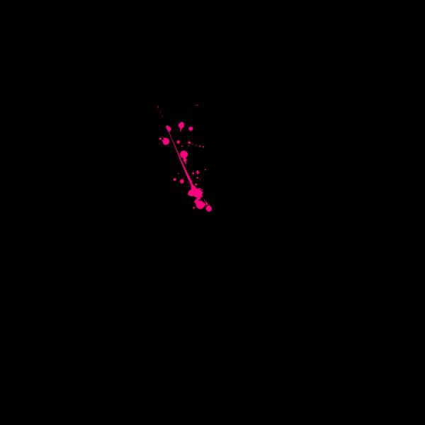 Pink Paint Splatter PNG clipart
