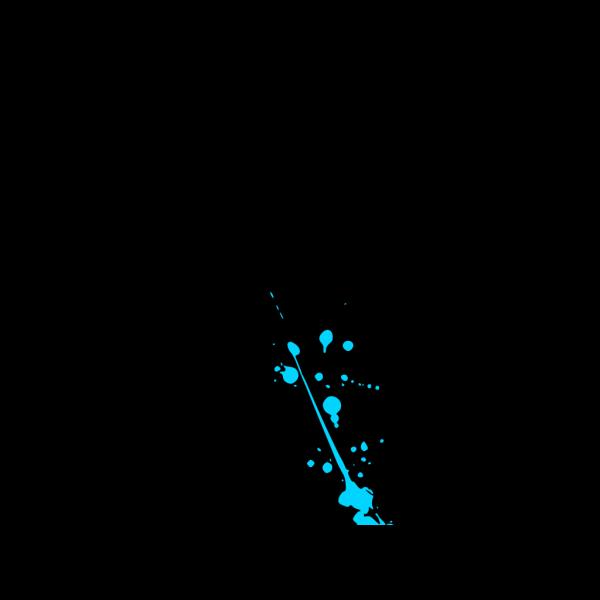 Blue Paint Splatter PNG Clip art