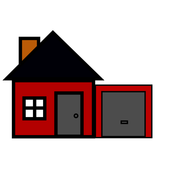 Red House PNG Clip art