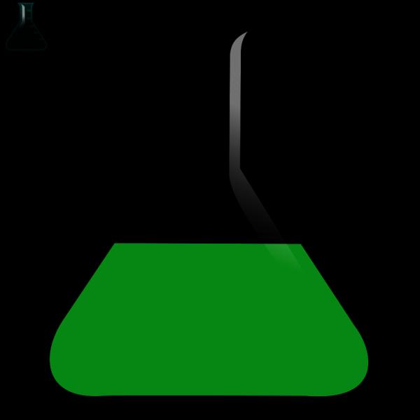 Beaker Green PNG Clip art
