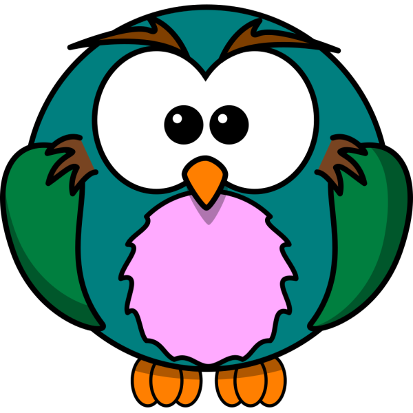 Colorful Cartoon Owl PNG Clip art