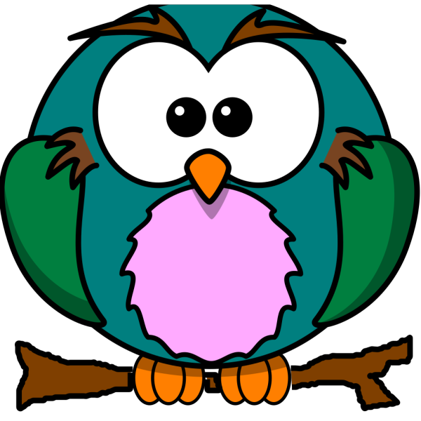 Cute Owl On Branch PNG icons