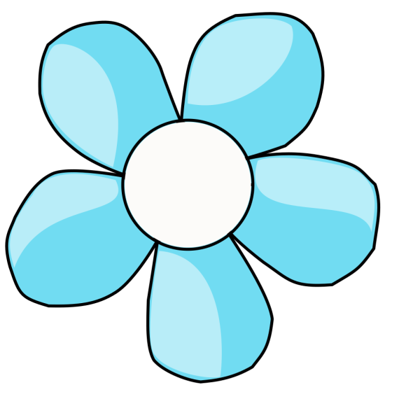 Turquoise Flower White Center PNG icon