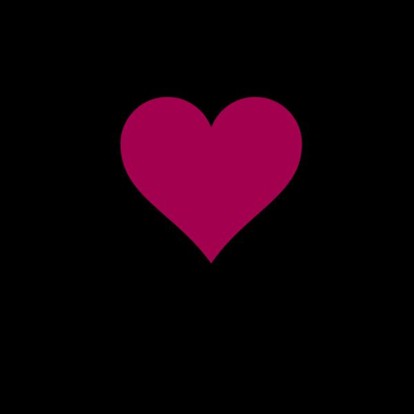 Dark Pink Heart PNG Clip art