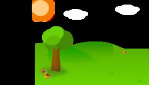 Nice Landscape Cartoon PNG Clip art
