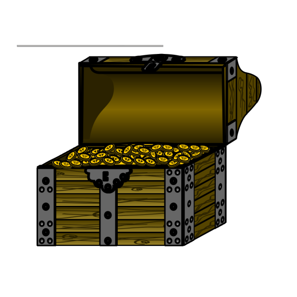Pirate Treasure Chest With Coins PNG Clip art