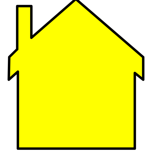 Yellow House Outline PNG Clip art