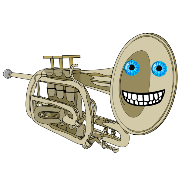 Animated Smiling Trumpet PNG Clip art