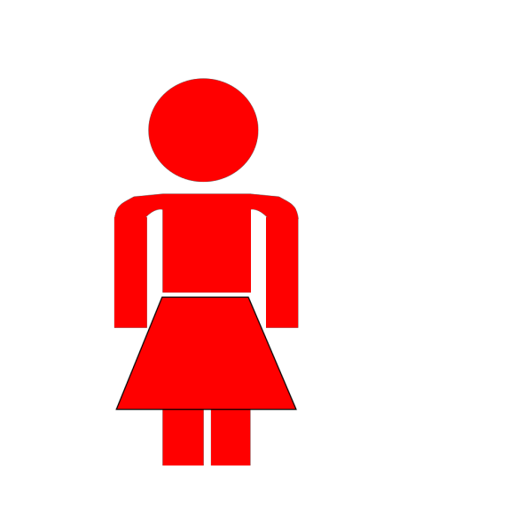 Red Lady Stick Figure  PNG Clip art