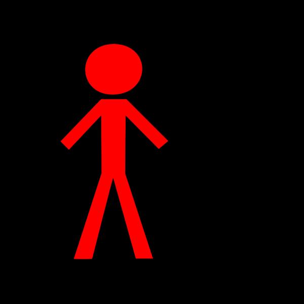 Half Blue Half Red Stick Figure Woman PNG Clip art