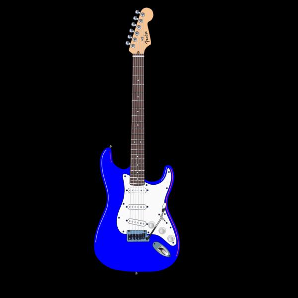 Electric Blue Guitar PNG Clip art