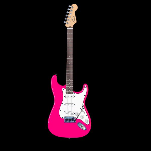 Pink Guitar PNG Clip art