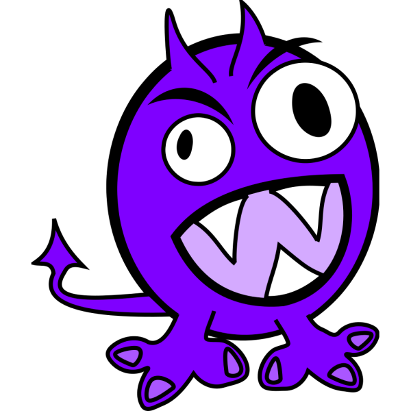 Purple Monster PNG Clip art
