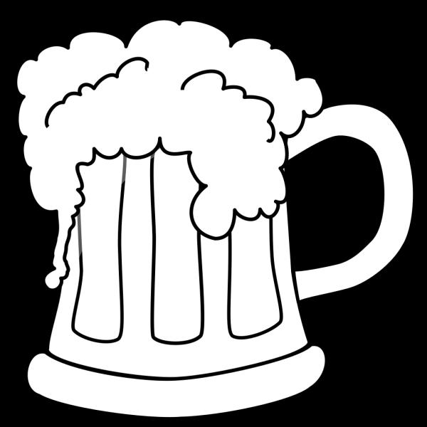 Beer Mug Outlined 2 PNG Clip art