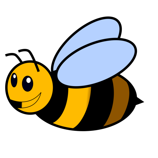 Bee Colored PNG Clip art