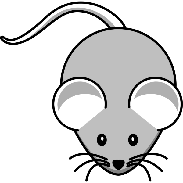 Light Gray Mouse PNG clipart