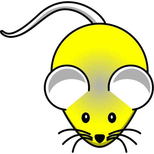 Yellow In Gray Mouse PNG Clip art