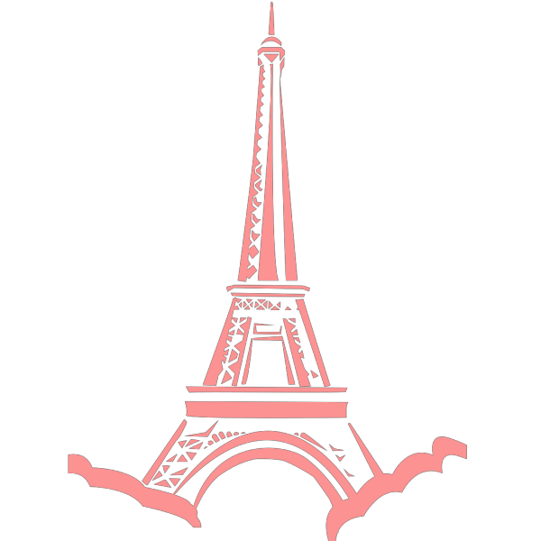 Pink Eiffel Ooh-la-la PNG Clip art